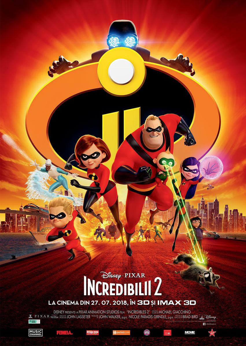 Afis film: 2D Incredibilii 2 - dublat